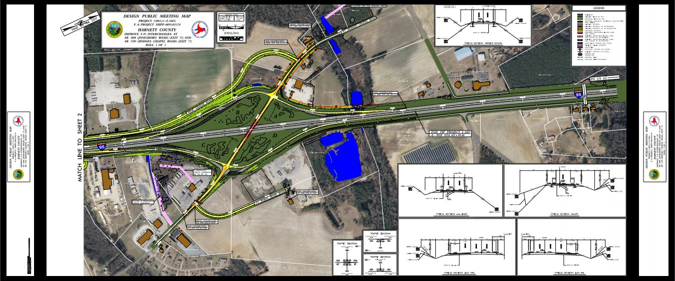 Jonesboro Road Interchange Improvements NC Eminent Domain Project Map 3