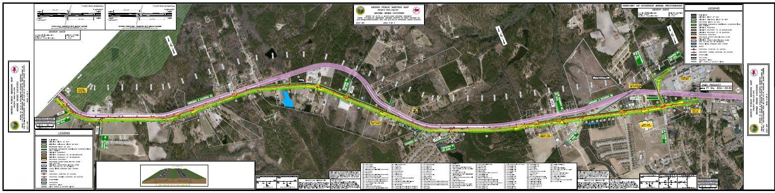 Map of St. Matthews Road to Raeford Road